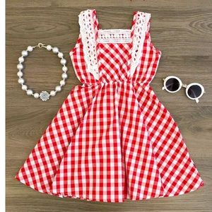 Other - Red Gingham Dress